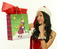 Asian woman with christmas gifts Stock Images