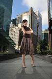 Asian Woman In The City Royalty Free Stock Photo