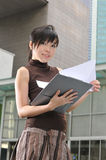 Asian Woman In The City Royalty Free Stock Image