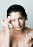 Asian woman clean face Stock Photo
