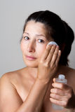 Asian woman clean face Stock Photos