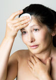 Asian woman clean face Royalty Free Stock Photo