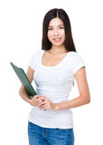 Asian woman with clipboard Stock Photography