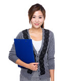 Asian Woman with clipboard Royalty Free Stock Photo
