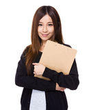 Asian Woman with clipboard Stock Photos