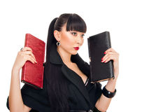Asian woman with clutch Stock Photography