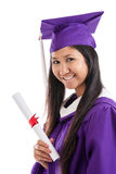 Asian Woman College Graduate Stock Images