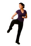 Asian woman in a combat stance Stock Image