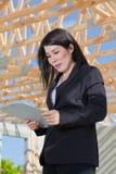 Asian Woman Contractor Royalty Free Stock Photos
