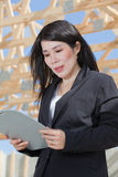 Asian Woman Contractor Stock Photography