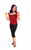 Asian woman in corset. Stock Image