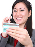 Asian Woman with Credit Card Stock Photos