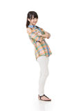 Asian woman with crossed arms Royalty Free Stock Photos