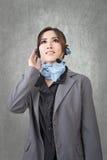 Asian woman customer service worker Stock Photos