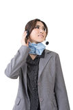 Asian woman customer service worker Royalty Free Stock Photos