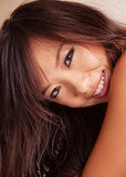 Asian woman cute smile Stock Photo