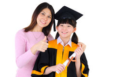Asian woman and daughter Royalty Free Stock Photography