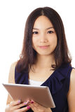 Asian woman with digital tablet Royalty Free Stock Photo