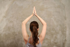 Asian Woman Do Yoga Stock Photo
