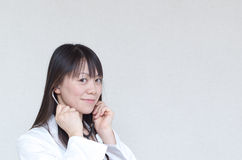 Asian woman doctor Stock Photo