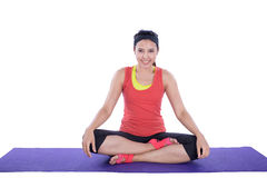 asian woman doing yoga Royalty Free Stock Images