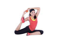 Asian woman doing yoga Stock Images