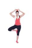 Asian woman doing yoga Stock Photo