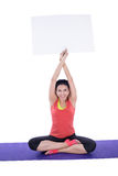 Asian woman doing yoga Royalty Free Stock Photo