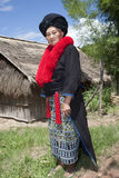 Asian woman with dress in Laos, Yao Stock Photography