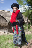 Asian woman with dress in Laos, Yao royalty free stock images