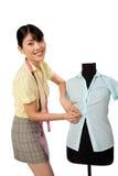 Asian Woman Dressmaker Stock Image
