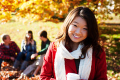 Free Asian Woman Drinking A Warm Drink Royalty Free Stock Images - 28835429