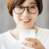 Asian Woman Drinking Tea Relax Concept Stock Image