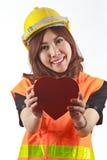 Asian woman engineer Royalty Free Stock Photos