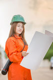Asian woman engineer Stock Image