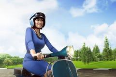 Asian woman enjoying the day stock photo
