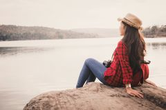 Free Asian Woman Enjoying In Nature Royalty Free Stock Photography - 111033077