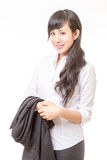 Asian woman executive  holding jacket over arm Royalty Free Stock Image
