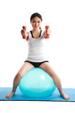 Asian woman exercise Royalty Free Stock Photo