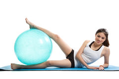 Asian woman exercise Royalty Free Stock Images