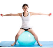 Asian woman exercise Royalty Free Stock Image