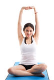 Asian woman exercising Stock Image