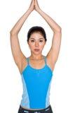 Asian woman exercising royalty free stock image