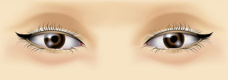 Asian woman eyes Stock Photo