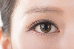 Asian woman eyes Stock Images