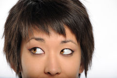 Asian Woman Face Royalty Free Stock Images