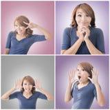 Asian woman face Stock Images