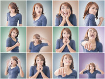 Asian woman face Royalty Free Stock Photo