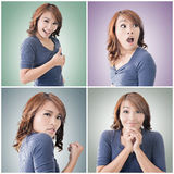 Asian woman face Stock Photos