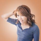 Asian woman face Royalty Free Stock Photos